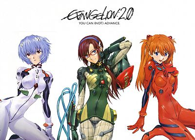 Ayanami Rei, Neon Genesis Evangelion, bodysuits, Makinami Mari Illustrious, Asuka Langley Soryu, meganekko, anime girls - related desktop wallpaper