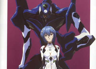 Ayanami Rei, Neon Genesis Evangelion, anime girls, scans - related desktop wallpaper