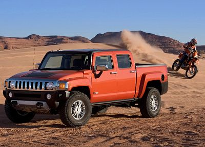 sand, cars, vehicles, Hummer, motorbikes - related desktop wallpaper