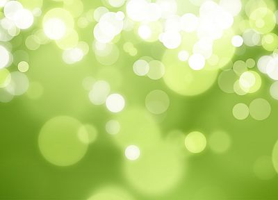 green, lights, bokeh - random desktop wallpaper