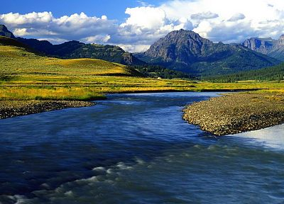 valleys, Wyoming, Yellowstone, National Park, Lamar - random desktop wallpaper