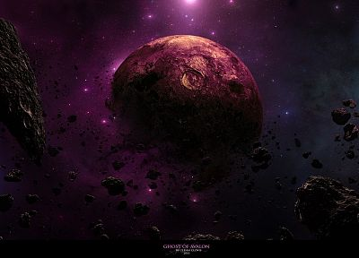 outer space, galaxies, planets, rocks, nebulae, DeviantART, dust, asteroids, cosmic dust - desktop wallpaper