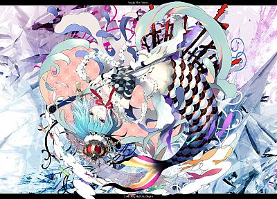 blue hair, Mahou Shoujo Madoka Magica, Miki Sayaka, crowns, anime, anime girls - desktop wallpaper