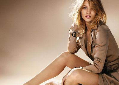 blondes, women, blue eyes, models, fashion, Rosie Huntington-Whiteley - desktop wallpaper