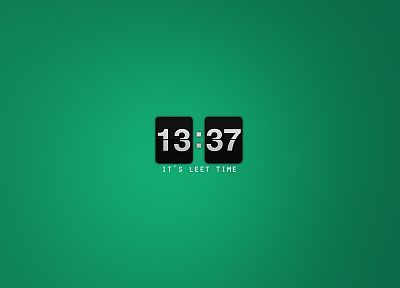 minimalistic, clocks, l33t, 1337 - desktop wallpaper