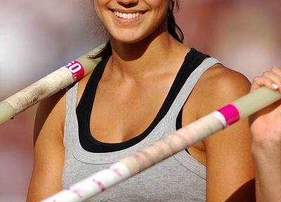 women, athletes, Allison Stokke, pole vaulting - random desktop wallpaper