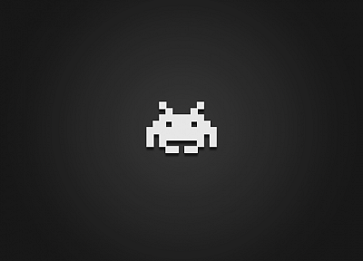 video games, minimalistic, Space Invaders, retro games - random desktop wallpaper