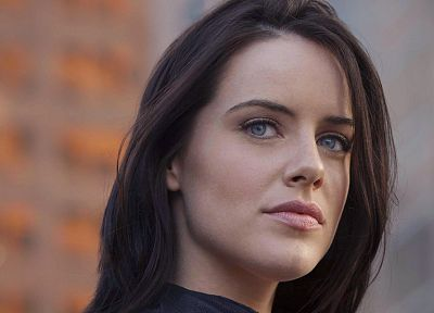 women, Michelle Ryan, faces - desktop wallpaper