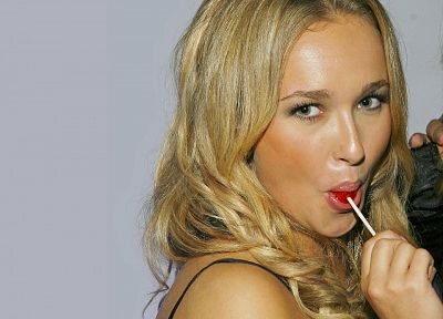 women, actress, Hayden Panettiere, celebrity, lollipops - desktop wallpaper