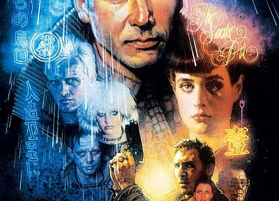 Blade Runner, Harrison Ford, movie posters, Drew Struzan - random desktop wallpaper