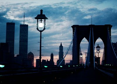 cityscapes, architecture, bridges, buildings, New York City - desktop wallpaper