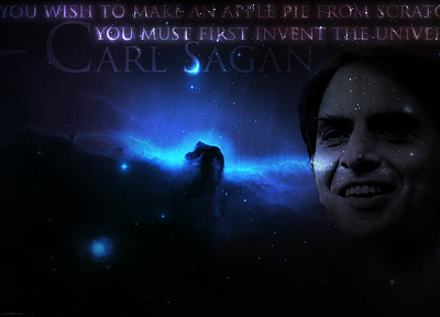 quotes, Carl Sagan, Horsehead Nebula - random desktop wallpaper