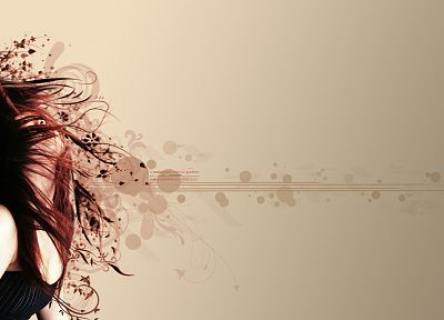 women, redheads, hair toss - random desktop wallpaper
