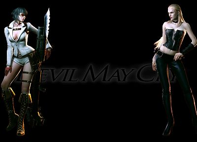 Devil May Cry, Trish Devil May Cry, Lady (character) - random desktop wallpaper