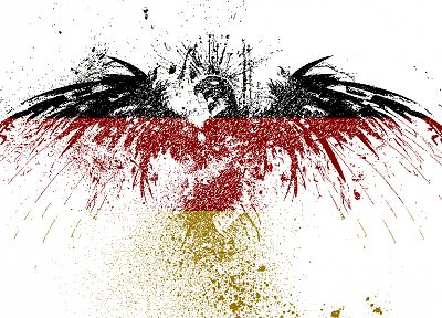 Germany, eagles, white background, german flag, paint splatter - random desktop wallpaper