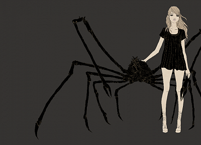 artwork, japanese spider crab, grey background, somefield, Barnaby Ward - related desktop wallpaper