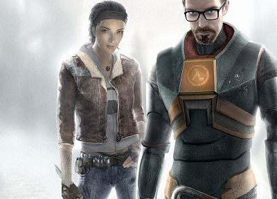Half-Life, Gordon Freeman, Alyx Vance - random desktop wallpaper