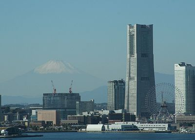 Japan, cityscapes, skylines, architecture, buildings, Yokohama - related desktop wallpaper