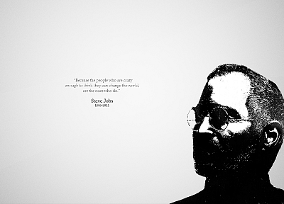 minimalistic, Apple Inc., quotes, Steve Jobs, RIP - random desktop wallpaper