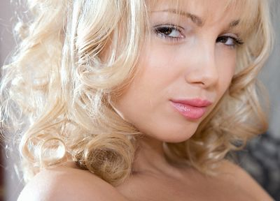 blondes, women, models, faces - related desktop wallpaper