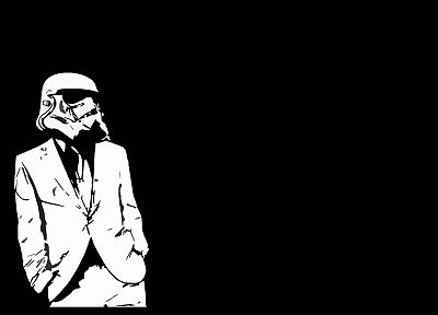 stormtroopers, black background - random desktop wallpaper