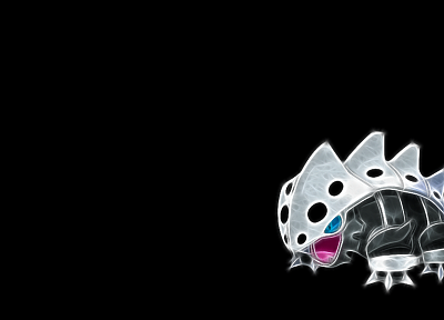 Pokemon, black background, Lairon - related desktop wallpaper
