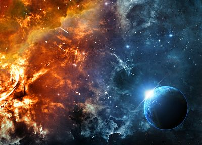 outer space, fantasy art - desktop wallpaper