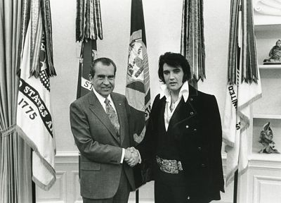Elvis Presley, Richard Nixon - random desktop wallpaper