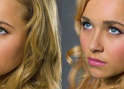 blondes, women, actress, Hayden Panettiere, celebrity, faces - desktop wallpaper