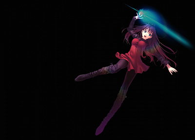 blue eyes, magic, Type-Moon, anime girls, Aozaki Aoko, Mahou Tsukai no Yoru - random desktop wallpaper