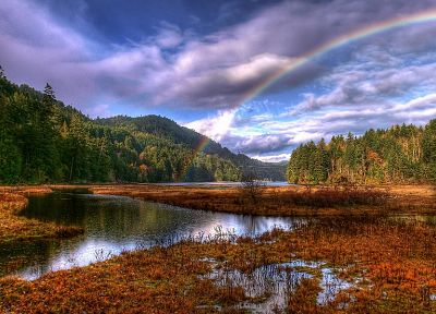 landscapes, rainbows - random desktop wallpaper