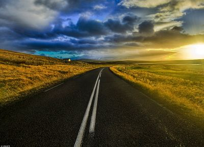 clouds, landscapes, roads - related desktop wallpaper