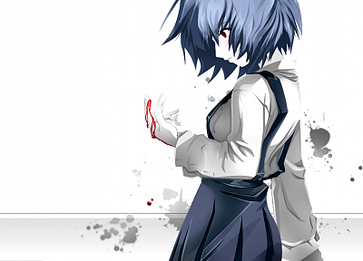 school uniforms, Ayanami Rei, Neon Genesis Evangelion - random desktop wallpaper