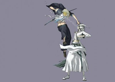 Bleach, Espada, Vizard, Hirako Shinji, simple background, Ulquiorra Cifer - related desktop wallpaper