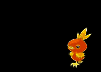 Pokemon, Torchic, black background - desktop wallpaper