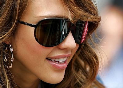blondes, women, Jessica Alba, actress, sunglasses - random desktop wallpaper