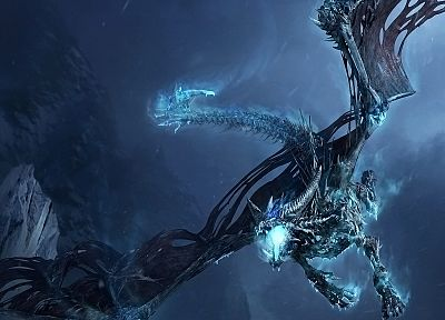 dragons, World of Warcraft, Blizzard Entertainment, World of Warcraft: Wrath of the Lich King - desktop wallpaper