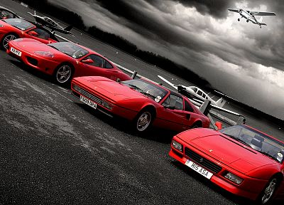 cars, Ferrari, selective coloring, Ferrari F430 - related desktop wallpaper