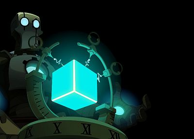 light, blue, robots, nox, Wakfu, cubes, anime - related desktop wallpaper