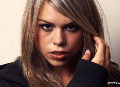 blondes, women, actress, long hair, celebrity, Billie Piper, hoodies, Doctor Who - random desktop wallpaper
