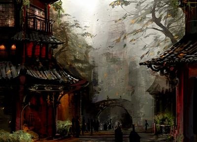 video games, Guild Wars, concept art, Asian architecture, arches - related desktop wallpaper