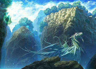 nature, wings, dragons, fantasy art, artwork - related desktop wallpaper