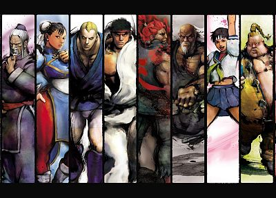 Street Fighter, Sakura, Ryu, rufus, Akuma, Chun-Li, Abel - desktop wallpaper
