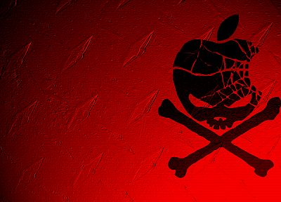 red, Apple Inc., pirates - random desktop wallpaper