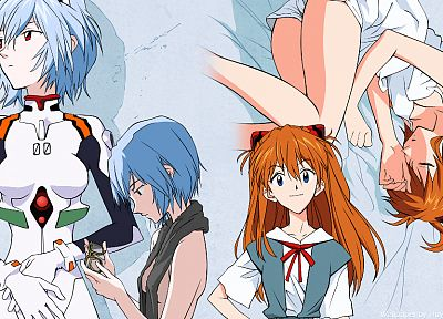 Ayanami Rei, Neon Genesis Evangelion, Asuka Langley Soryu - related desktop wallpaper