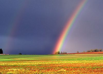 Oregon, double rainbow, marion - desktop wallpaper