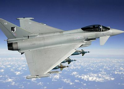 aircraft, war, Eurofighter Typhoon - related desktop wallpaper