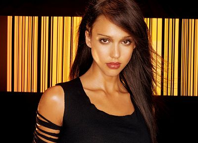 brunettes, women, black, dark, Jessica Alba, actress, Dark Angel, duplicate - related desktop wallpaper