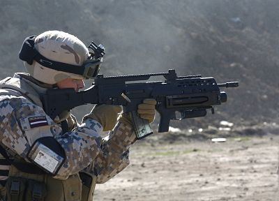 soldiers, guns, military, Latvia, Heckler and Koch, G36, latvian - desktop wallpaper