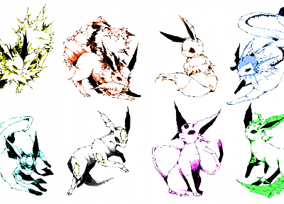 Pokemon, Eevee, simple background - desktop wallpaper